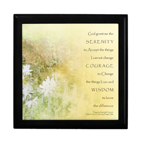 Serenity Prayer Fences Flowers Gift Box