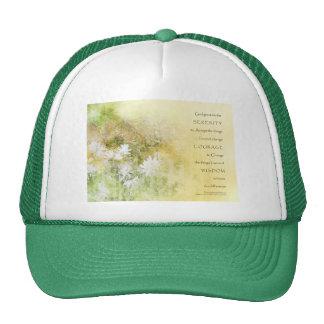 Serenity Prayer Fences Flowers Trucker Hat