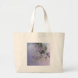 Serenity Prayer Floral Bag