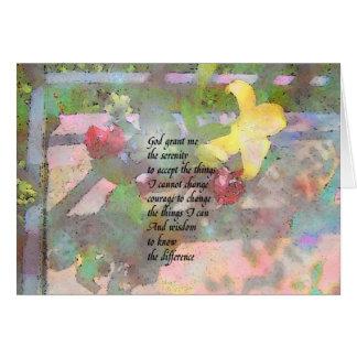 Serenity Prayer Floral Greeting Card