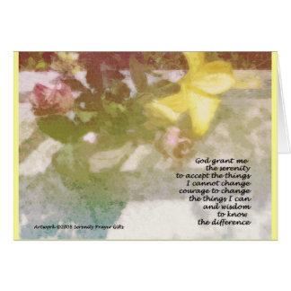 Serenity Prayer Floral Card