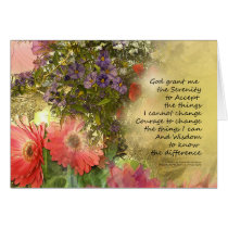 Serenity Prayer Floral Collage