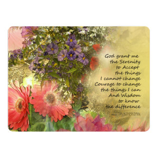 Serenity Prayer Floral Collage Card