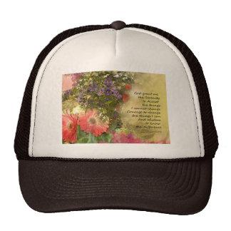 Serenity Prayer Floral Collage Trucker Hat