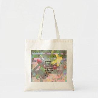 Serenity Prayer Floral Tote Bag