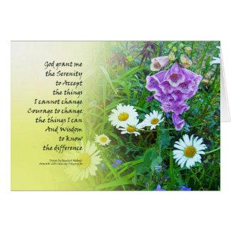 Serenity Prayer Flower Garden Card
