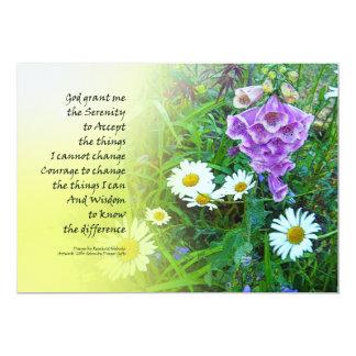 Serenity Prayer Flower Garden 5x7 Paper Invitation Card