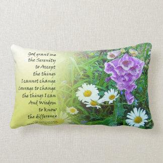 Serenity Prayer Flower Garden Throw Pillows