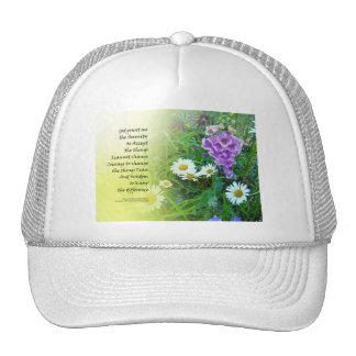 Serenity Prayer Flower Garden Trucker Hats