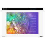 """Serenity Prayer Flowers and Tree 15"""" Laptop Decal"""
