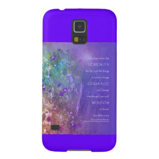 Serenity Prayer Flowers and Tree Case For Galaxy S5