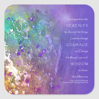 Serenity Prayer Flowers and Tree Stickers