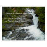 Serenity Prayer Forest Waterfall Photo Poster