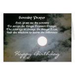 Serenity Prayer Full Moon Birthday Card