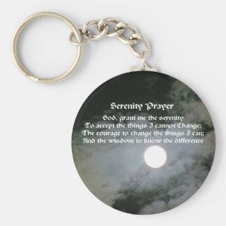Serenity Prayer Full Moon Inspirational Keychain