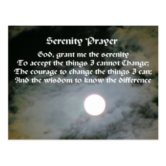 Serenity Prayer Full Moon Inspirational Postcard