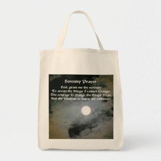 Serenity Prayer Full Moon Inspirational Tote Bag