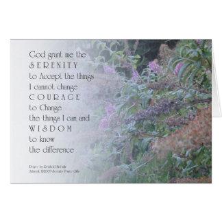 Serenity Prayer Garden Card