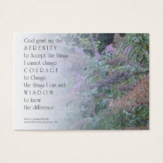 Serenity Prayer Garden Profile Card
