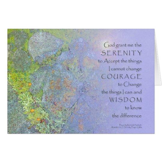 Serenity Prayer Garden Rocks Card