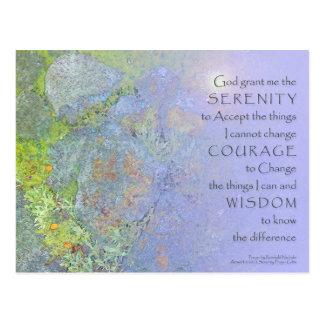 Serenity Prayer Garden Rocks Post Cards