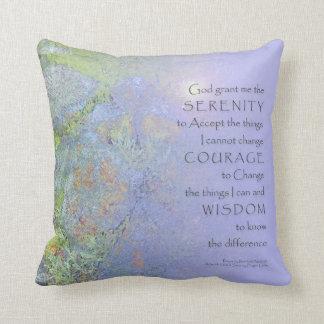 Serenity Prayer Garden RocksAmerican MoJo Pillo Throw Pillow