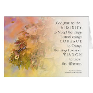 Serenity Prayer Gentle Leaves Greeting Card