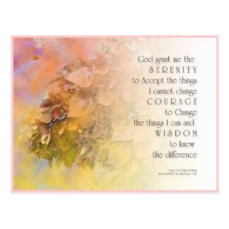 Serenity Prayer Gentle Leaves Postcard