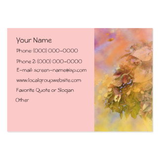 Serenity Prayer Gentle Leaves Profile Card Business Card Template