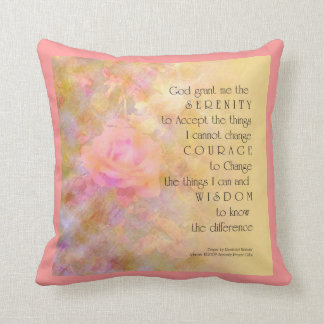 Serenity Prayer Gentle Rose American MoJo Pillow