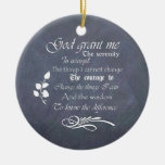 Serenity prayer gift chalkboard retro Double-Sided ceramic round christmas ornament