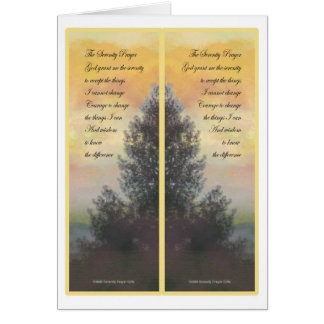 Serenity Prayer Gifts Bookmarks Greeting Card