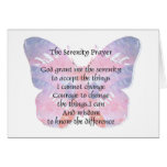 Serenity Prayer Gifts Butterfly 2 Card