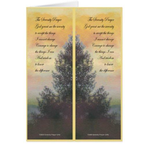 Serenity Prayer Gifts Yellow Sky Bookmark Card
