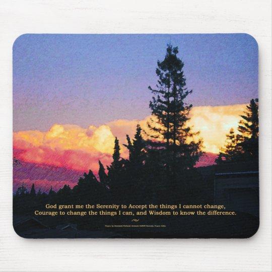 Serenity Prayer Glowing Sunset Mouse Pad