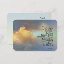 Serenity Prayer Golden Cloud Business Card