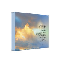 Serenity Prayer Golden Cloud Canvas Print