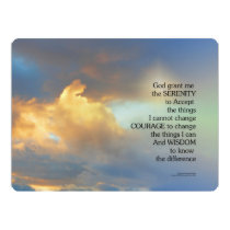 Serenity Prayer Golden Cloud Invitation