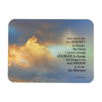 Serenity Prayer Golden Cloud Magnet
