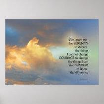 Serenity Prayer Golden Cloud Poster