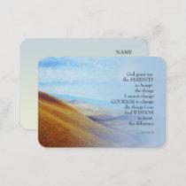 Serenity Prayer Golden Hills Business Card
