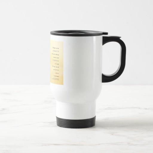Serenity Prayer Golden Shore Light Coffee Mug