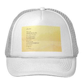 Serenity Prayer Golden Shore Spanish Trucker Hat
