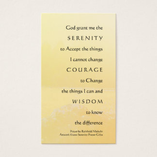 Serenity Prayer Golden Shores Profile Card