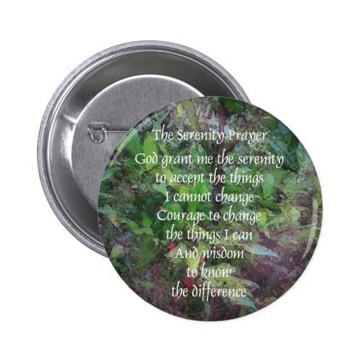 Serenity Prayer Green Button
