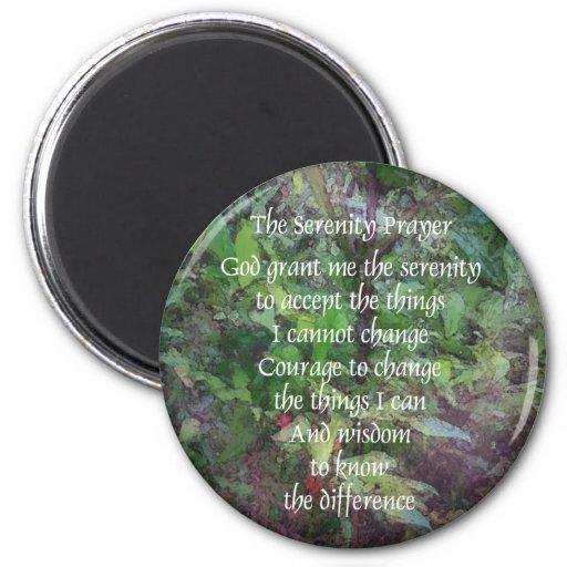 Serenity Prayer Green Magnet