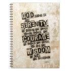 Serenity Prayer: Grunge Black & Tan, Recovery Notebook