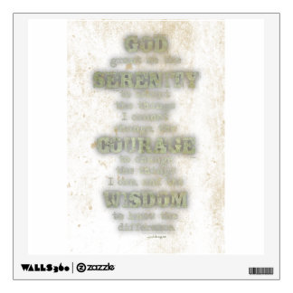 Serenity Prayer: Grunge, Camouflage, Recovery Wall Decal