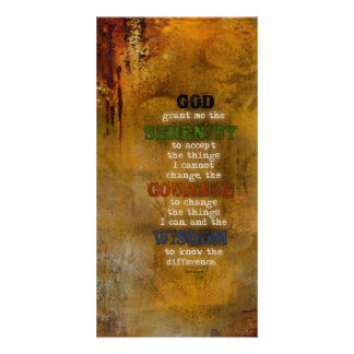 Serenity Prayer: Grunge Multi-color, Recovery Card