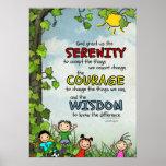Serenity Prayer: Happy Children, Strength/Recovery Poster